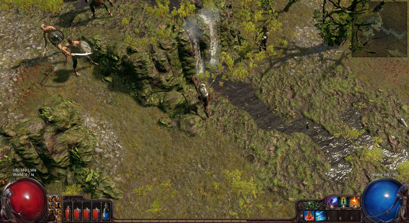 Path of Exile arrow in back