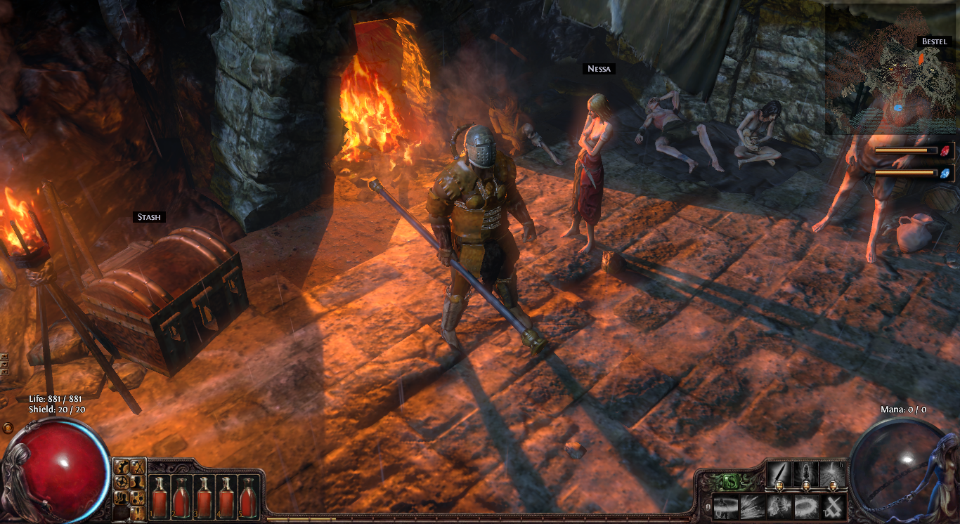 Path of Exile town 1